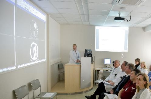 Teilnehmer einer Tumorkonferenz